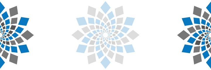 Abstract Squares Circular Element Blank Horizontal