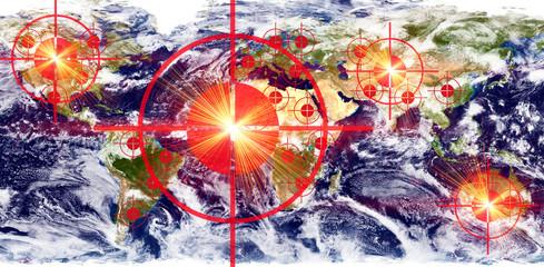 Ziele auf der Erde - Earth texture by NASA.gov