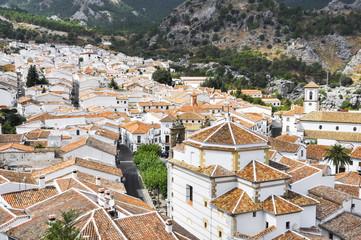 White town of Grazalema, Cadiz (Spain)