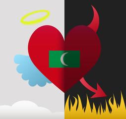 Maldives angel and devil heart