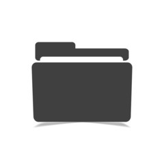 Folder with shadow on white background