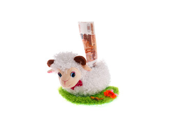 sheep a toy moneybox