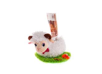 sheep a toy moneybox