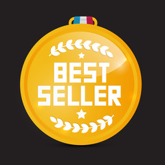 Best Seller Gold Medal Vector