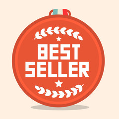 Best Seller Circle Retro Medal