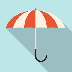 Retro Flat Design Vector Umbrella Illustration