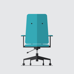 Flat icon of business chair, Vector, Illustration