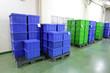 Leinwanddruck Bild - Plastic box products.