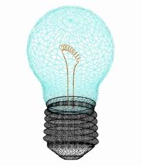 3d bulb icon