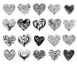 Tattoo hearts. - 75946869