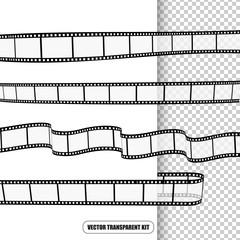 Film rolls vector kit