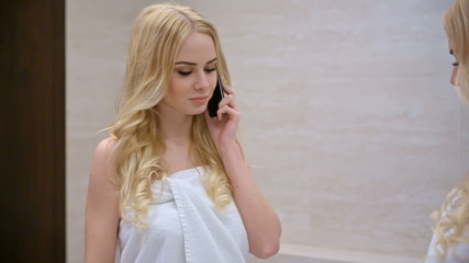 Blond Woman Talking Cell Phone