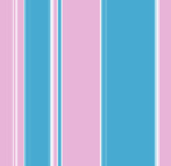 Vertical stripey pattern in blue, pink and white