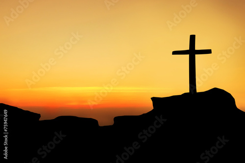 The cross on the mountain - 75947649