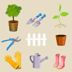 icons garden tools