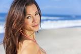 Beautiful Woman Girl In Bikini On Beach