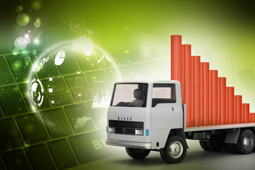 Transportation of business graph in  truck
