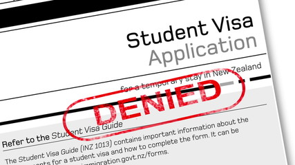 student visa denied