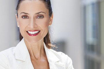 Portrait of Beautiful Woman or Businesswoman