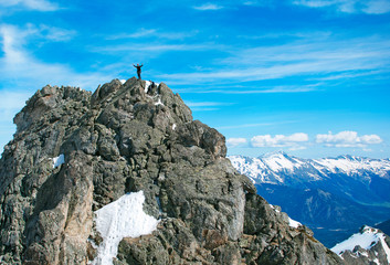 The rock-climber on the summit