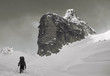 Climber on the snowy mountains - 75949060