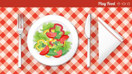 Healthy vegetarian food banner
