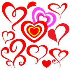 heart sketch (vector)