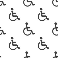 cripple, vector seamless pattern .