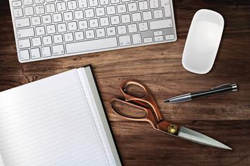 scissors desk