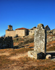 Grave in historical village of Castelo Mendo, Portugal