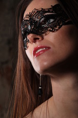 Girl in ornate mask