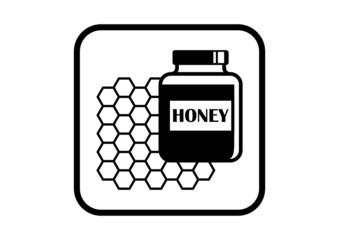 Honey vector icon on white background