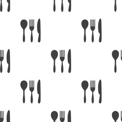 cutlery, vector seamless pattern