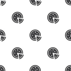 pizza, vector seamless pattern .