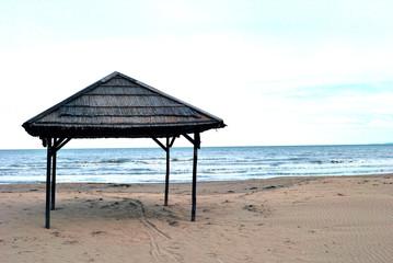 Gazebo sulla spiaggia di Termoli