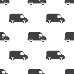 van, vector seamless pattern .
