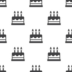 cake, vector seamless pattern .