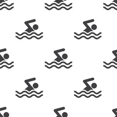 swim, vector seamless pattern .