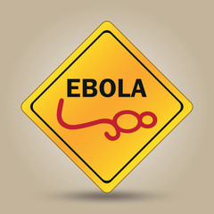 Ebola virus sign illustration