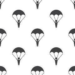 parachutist, vector seamless pattern .