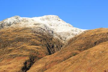 Snow covered mountain top, Scotland
