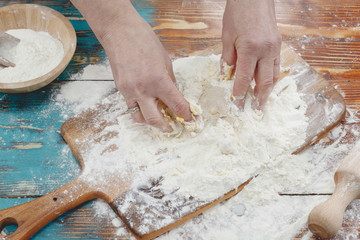 Pizza dough made from active dry yeast and flour