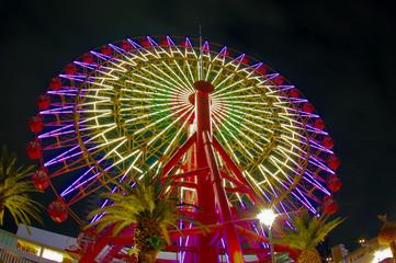 The Ferris wheel / Kobe Harborland UMIE / night view