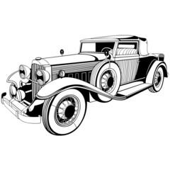 old limousine