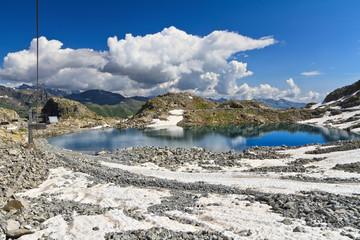 Monticello Lake in Presena mount, Italy