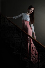 Evening dress on the stairs