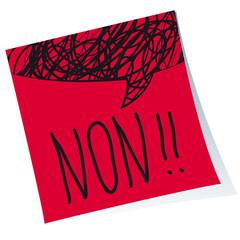 Post-it Non!