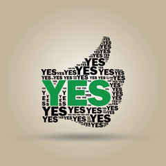 "Typographic sign ""YES"""