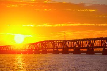 colorful sunset or sunrise Bahia Honda park  Key West Florida