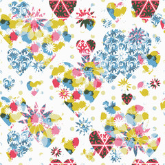 """Seamless patterned texture """"Valentine's Day"""""""